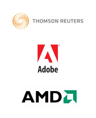 Thomson Reuters, Adobe, AMD