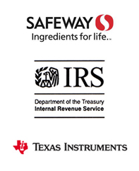 Safeway, IRS, Texas Instruments