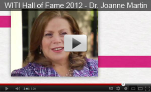 WITI Hall of Fame 2012 - Dr. Joanne Martin