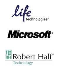 Life Technologies, Microsoft, Robert Half Technology