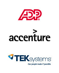 ADP, Accenture, TEKsystems