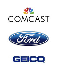 Comcast, Ford, GEICO