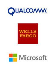 Qualcomm, Wells Fargo, Microsoft