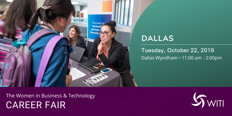 Women in Business and Technology Career Fair Dallas, October 22, 2019