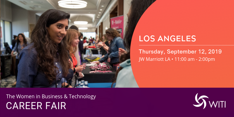 Women in Business and Technology Career Fair Los Angeles, September 12, 2019