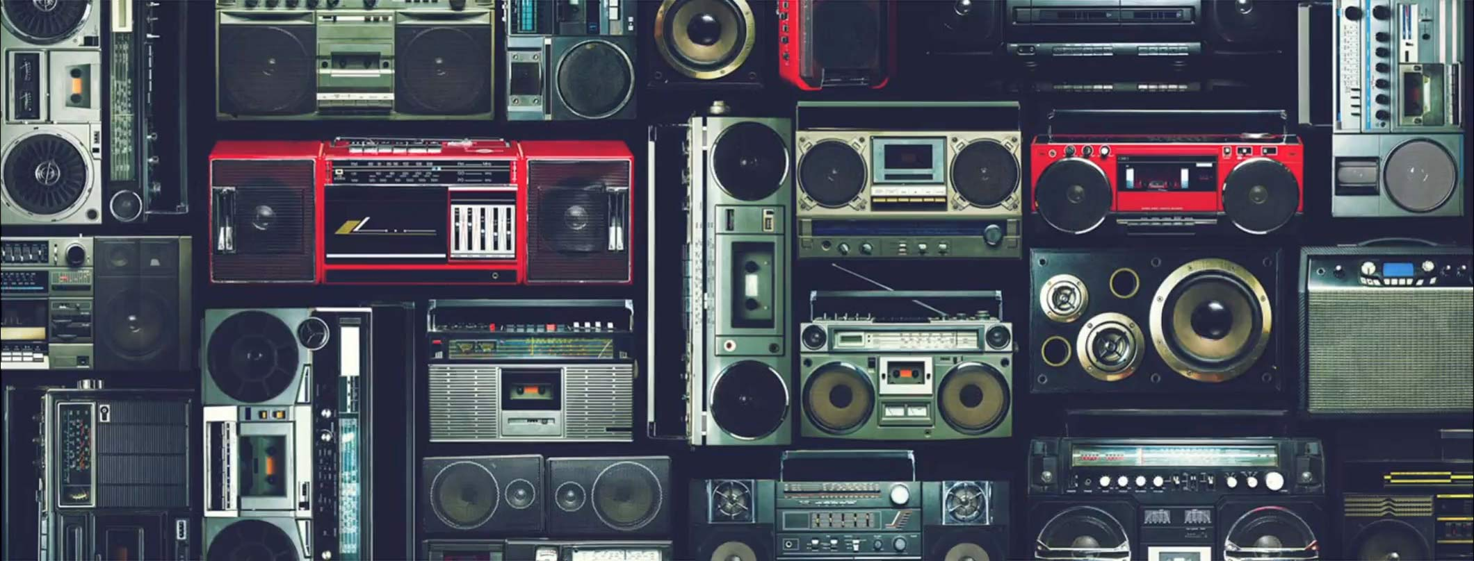Background image of retro tape decks