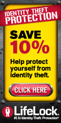 LifeLock - #1 in Identity Theft Protection | SAVE 10% | Help protect yourself from identity theft. | CLICK HERE
