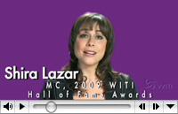 Shira Lazar, Host of NBC's 1st Look, to MC WITI's 2009 Hall of Fame Awards